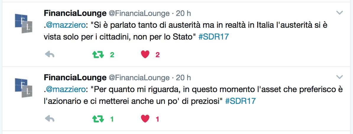 due citazioni intervento Maurizio Mazziero al Salone del Risparmio 2017, conferenza Vontobel