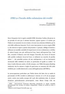 Copertina IFRS 9 e l'incubo della valutazione dei crediti