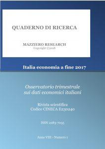 Italia economia a fine 2017 - Copertina