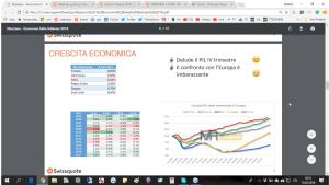 Schermata Youtube economia Italia