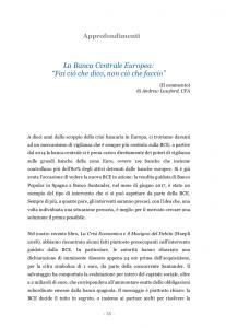 Copertina articolo su BCE