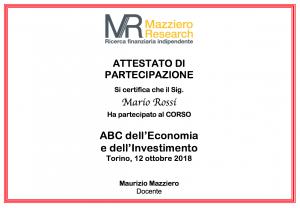 Attestato ABC Torino